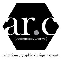 Graphic Design - Welcome to { Amanda Riley Creative } - Invitations, Graphic Design + Events
